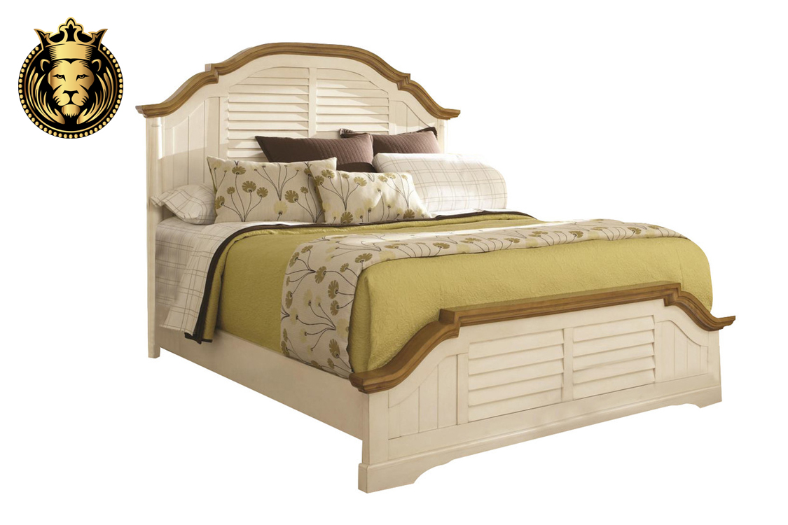 Off White Modern Contemporary 5 Peace Bedroom Set