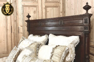 Olivia Antique Style Hand Carved Queen Bed 4