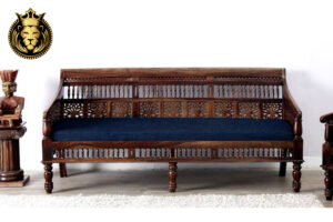Rajasthani Style 3 Seater Rosewood Sofa Online in India