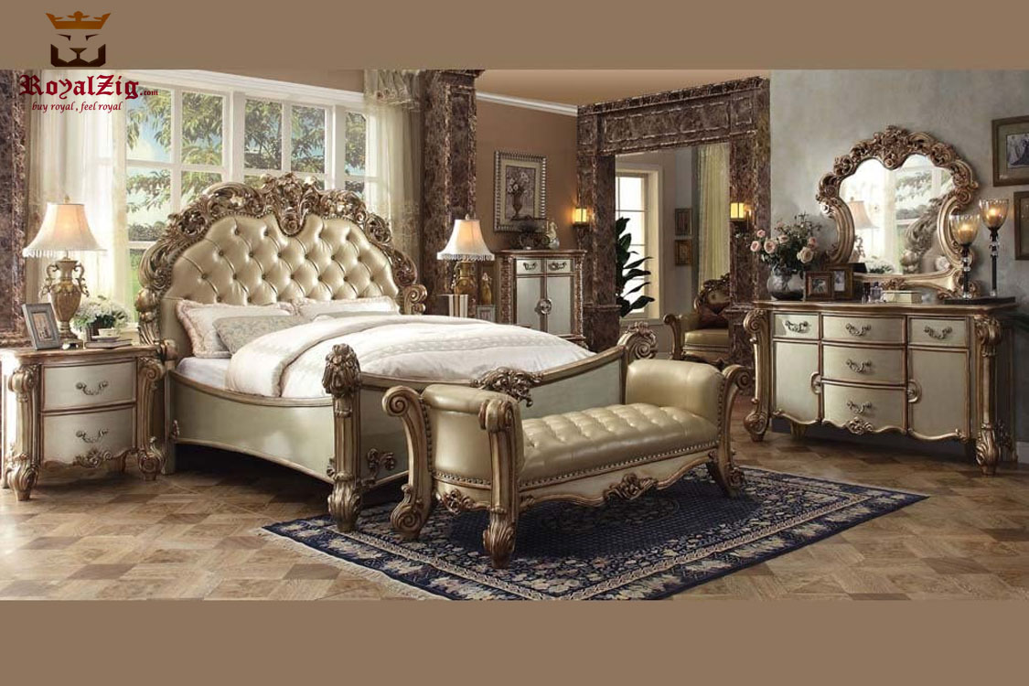 Royal Luxury High Carving Collection Bedroom Set