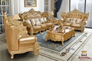 Royal Rose Carving Maharaja Sofa set