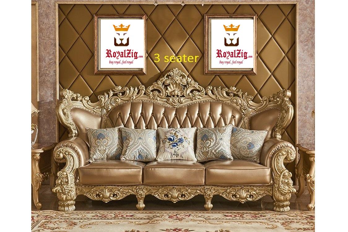 Royal Rose Carving Maharaja Sofa set