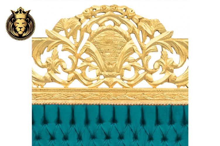 Saharanpur Baroque Style Golden Bed online in India