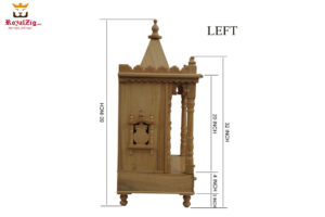 Solid Wood Small Pooja Mandir For Home