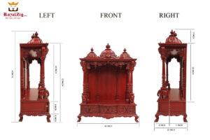 Teak Wood Cherry Finish Gangotri Temple