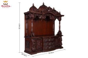 Teak Wood Delhi Akshardham Temple Design