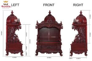 Teak Wood Hand Carved Iskcon Temple