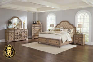 Teak Wood Rustic Finish Antique Bedroom Set