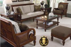 Teak Wood Vintage Style Sofa Set Online in India