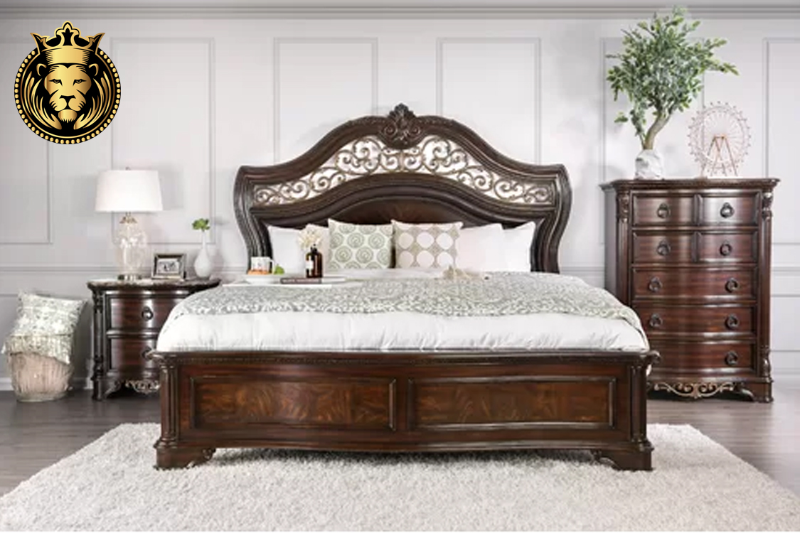 Telsa Antique Style Hand Crafted Wooden Bedroom Set
