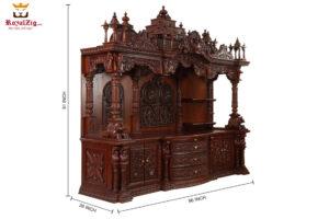 Udupi Sri Krishna Hand Carved Wooden Temple