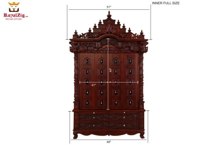 Wooden Carved Shree Jagannath Puri Pooja Mandir