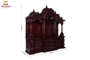 Wooden Hand Carved Swaminarayan Temple