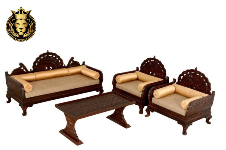 rajasthani carved sofa set