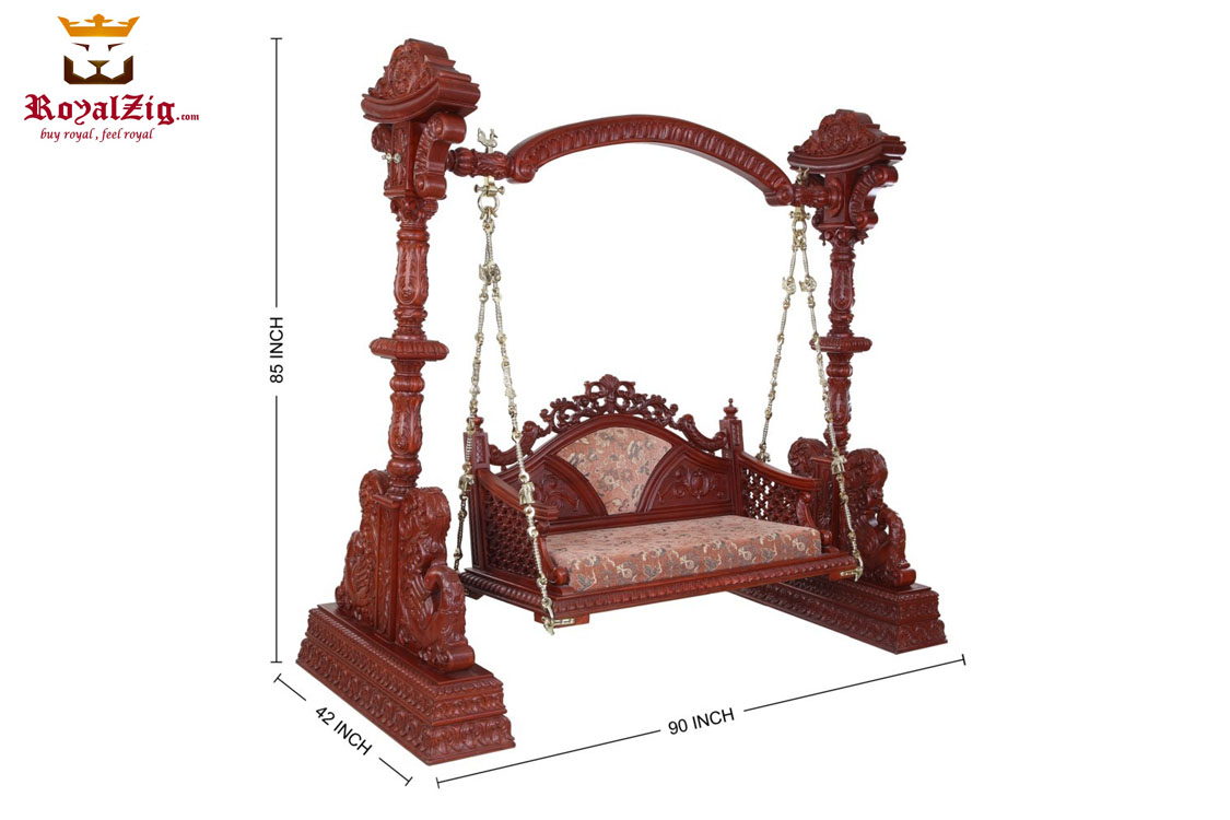wooden carved swing online India