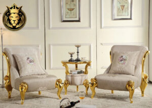 Amer Fort Modern Luxury Royal Golden Sofa Set