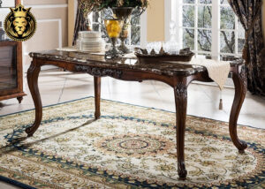 American Style Walnut Finish Teak wood Dining Table