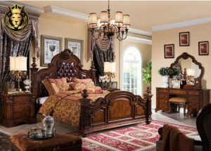 Antique European Style Four Poster Bedroom Set