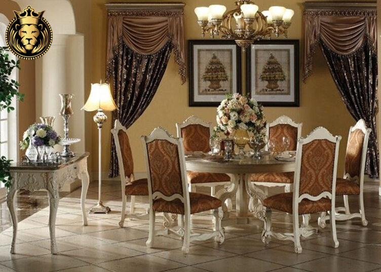 Bangalore Luxury Mansion White Round Dining Table 1