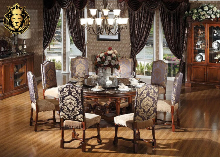 Beautiful European Style Marble Top Dining Table