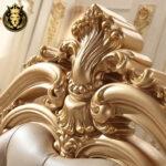 Chandigarh Luxury Mansion Royal Golden Bedroom Furniture