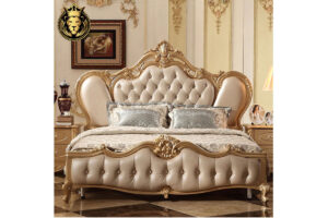 Chandigarh Luxury Mansion Royal Golden Bedroom Furniture