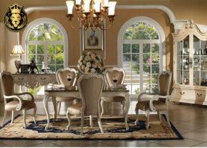 Chennai Luxury Mansion White Dining Table
