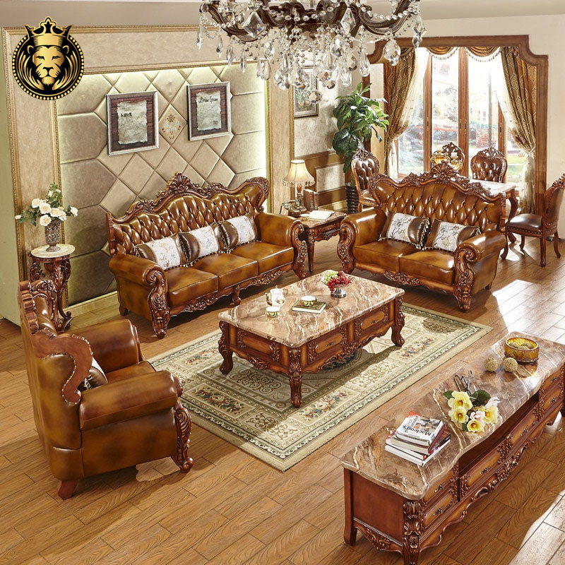 Intricate Carving European Living Furniture Collection