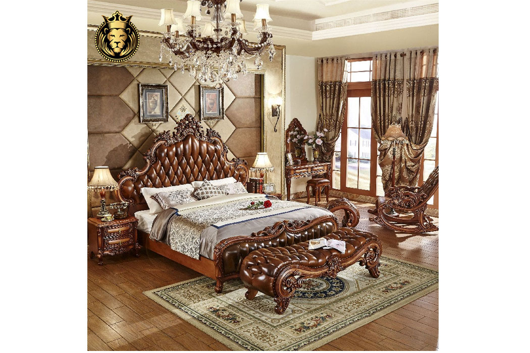 European Intricate Carving Bedroom Set, European Bedroom Furniture
