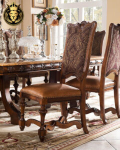 European Antique Style Walnut Finish Dining Table
