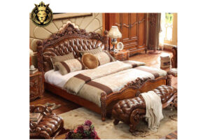 European Style Hand Carved Poster Bed