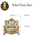 European Style Royal Golden Sofa Set