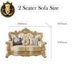 European Style Royal Golden Sofa
