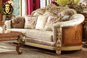 Golden European Style Collection Living Room Set