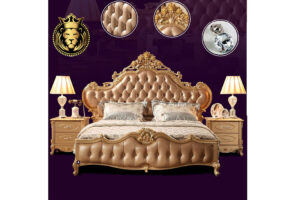 Gorgeous Bangalore Luxury Mansion Bedroom Set Furniture