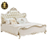 Indian classic Style Teak Wood Leather Bed