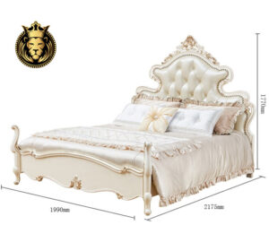 Italian Style Royal Luxury Tufted Design High End Bed