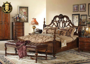 Jaisalmer Fort Antique Style Teak Wood Bedroom Set