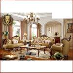 Royal Antique Style High End Sofa Set Designs