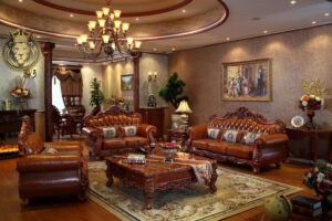Royal Antique Style High End Sofa Set Designs