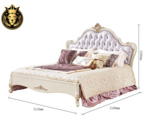 Royal French Style Solid Wood Luxury Bed