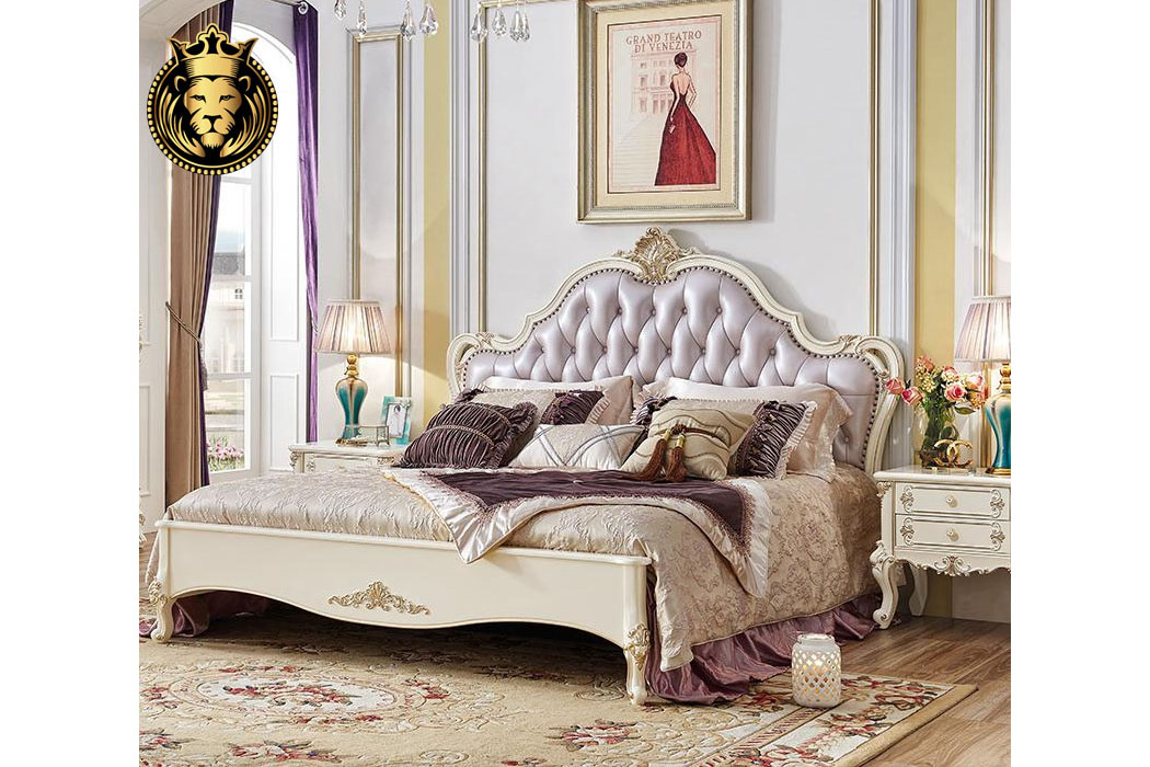 Royal French Style Solid Wood Luxury Bed Brand Royalzig