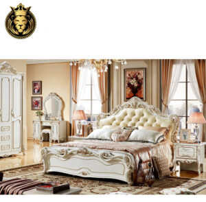 White And Gold Royal Bedroom Set
