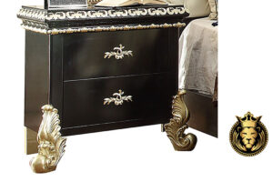European Antique Style High Carving Ebony Bed
