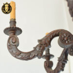 Antique Style Hand Carved Wooden Chandelier