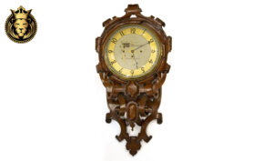 Antique Style Teak Wood Wall Clock