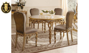 Beautiful Handcrafted Royal Luxury 4 Seater Dining Table