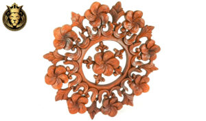 Beautiful Wooden Hand Carved Round Wall Panel Beautiful Wooden Hand Carved Round Wall Panel