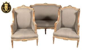 French Style Antique Distressed Finish Sofa Set