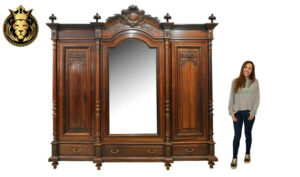 French Style Hand Carved Teak Wood Wardrobe